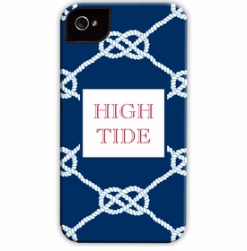 boatman geller nautical knot navy cell phone case