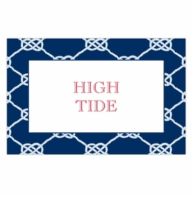boatman geller nautical knot navy disposable placemats