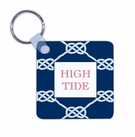 boatman geller nautical knot navy key chain