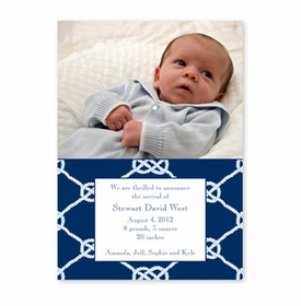 boatman geller nautical knot navy photocard