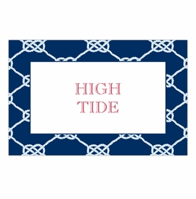 boatman geller nautical knot navy placemat