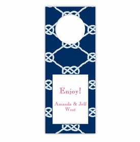 boatman geller nautical knot navy wine tags