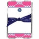 boatman geller nautical knot raspberry acrylic note sheets