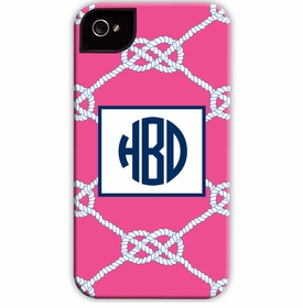 boatman geller nautical knot raspberry cell phone case