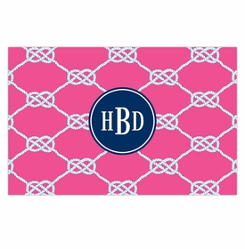 boatman geller nautical knot raspberry disposable placemats