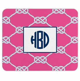 boatman geller nautical knot raspberry mouse pad