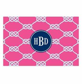 boatman geller nautical knot raspberry placemat