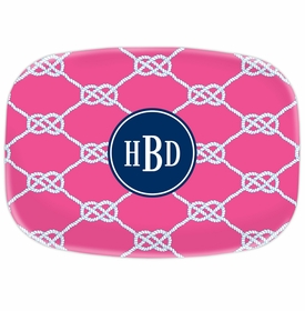 boatman geller nautical knot raspberry platter