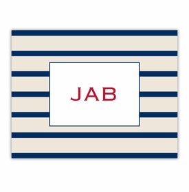 boatman geller nautical stripe foldover note
