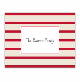 boatman geller nautical stripe red foldover note