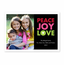 boatman geller peace joy love black photocard