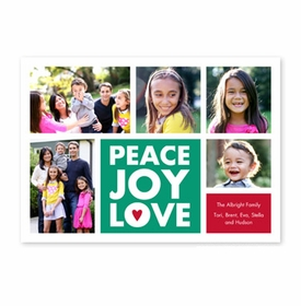 boatman geller peace joy love emerald photocard