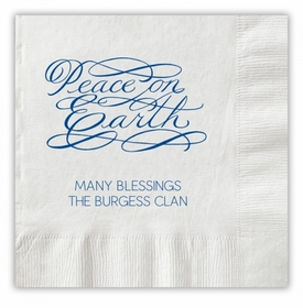 Peace On Earth Script Napkins