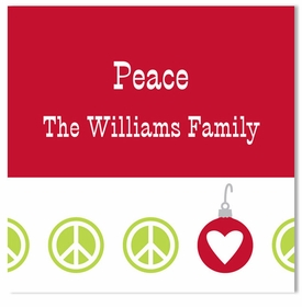 boatman geller peace repeat holiday sticker