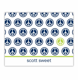boatman geller peace repeat navy foldover note