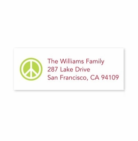 boatman geller peace sign lime address labels