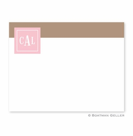 boatman geller peyton pink small flat notecard