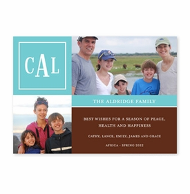 boatman geller peyton teal & chocolate photocard