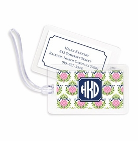 boatman geller pineapple repeat pink bag tags