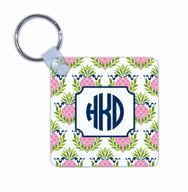 boatman geller pineapple repeat pink key chain