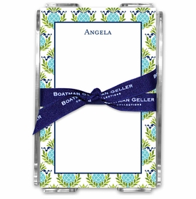 boatman geller pineapple repeat teal acrylic note sheets
