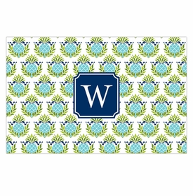 boatman geller pineapple repeat teal disposable placemats