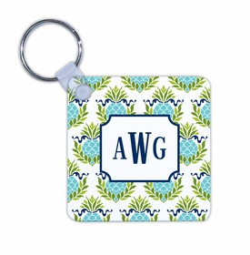 boatman geller pineapple repeat teal key chain