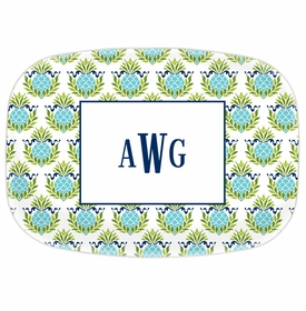 boatman geller pineapple repeat teal platter