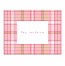 boatman geller plaid pink foldover note