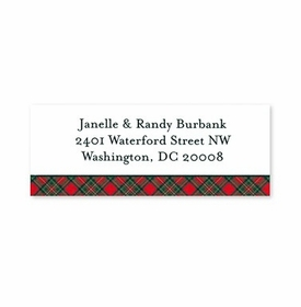 boatman geller plaid red address labels