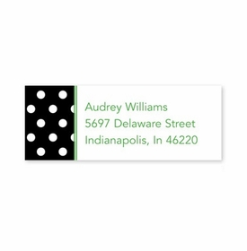 boatman geller polka dot black address labels