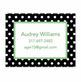 boatman geller polka dot black calling card