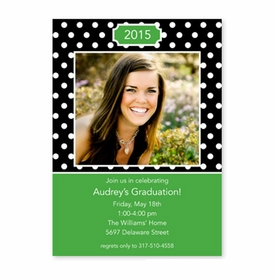 boatman geller polka dot black flat photocard