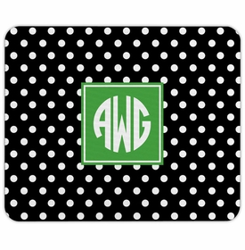 boatman geller polka dot black mouse pad