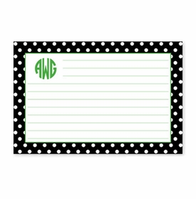 boatman geller polka dot black recipe card