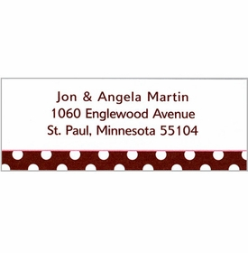 boatman geller polka dot brown address labels