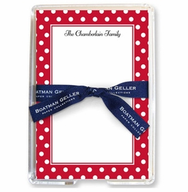 boatman geller polka dot cherry acrylic note sheets