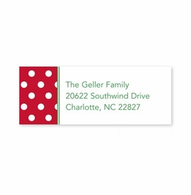 boatman geller polka dot cherry address labels