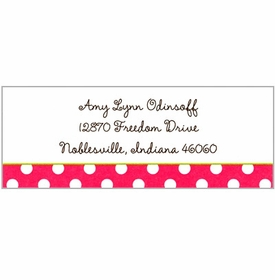 boatman geller polka dot pink address labels