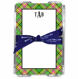 boatman geller preppy plaid acrylic note sheets
