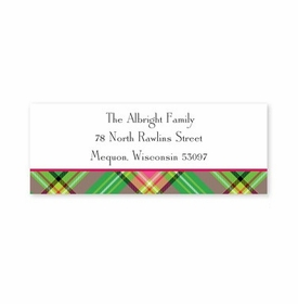 boatman geller preppy plaid address labels