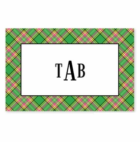 boatman geller preppy plaid disposable placemats