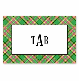boatman geller preppy plaid placemat