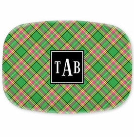 boatman geller preppy plaid platter