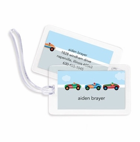 boatman geller race cars bag tags