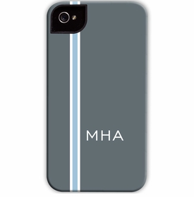 boatman geller racing stripe charcoal & light blue cell phone case