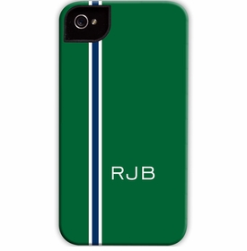 boatman geller racing stripe hunter & navy cell phone case