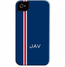 boatman geller racing stripe navy & red cell phone case