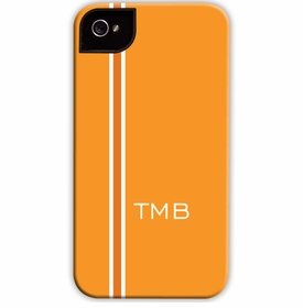 boatman geller racing stripe orange cell phone case