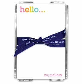 boatman geller rainbow hello acrylic note sheets